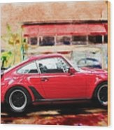 Porsche Series 01 Wood Print