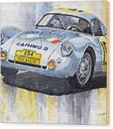 Porsche 550 Coupe 154 Carrera Panamericana 1953 Wood Print by Yuriy  Shevchuk