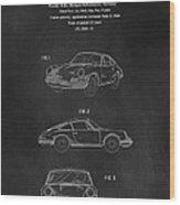 Porsche 911 Carrera 1964 Patent Art  Wood Print