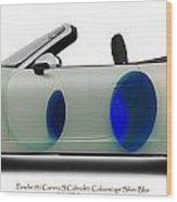Porsche 911 Colourscape Sivler-blu Wood Print