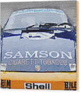Porsche 911 Front End Watercolor Wood Print