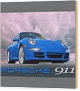 Porsche 911 No 1 Wood Print