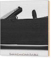 Porsche 911 Pacific Black Wood Print
