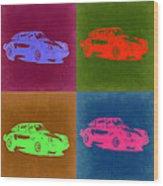 Porsche 911 Pop Art 3 Wood Print