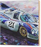 Porsche 917 Lh Larrousse Elford 24 Le Mans 1971 Wood Print