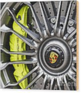 Porsche 918 Wheel Wood Print