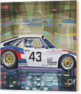 Porsche 935 Coupe Moby Dick Wood Print by Yuriy  Shevchuk