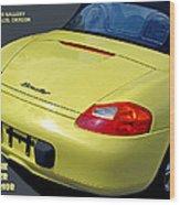 Porsche Boxster Posterior Wood Print