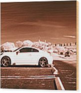 Porsche Car Side Profile Brown Near Infrared  Wood Print