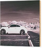 Porsche Car Side Profile Pink Near Infrared Wood Print