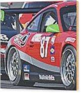 Porsche Gt In Traffic Wood Print