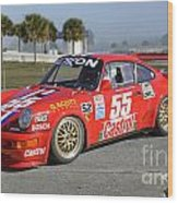 Porsche Rsr Race Car At Sebring Wood Print