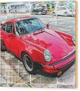 Porsche Series 02 Wood Print