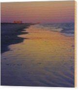 Port Aransas Sunset Wood Print