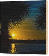 Port Charlotte Beach Sunset In January Wood Print by Anne Kitzman
