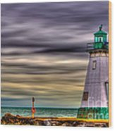 Port Dalhousie Lighthouse Wood Print by Jerry Fornarotto
