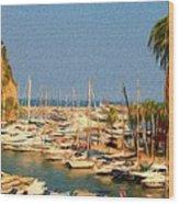 Port De Fontvieille Wood Print