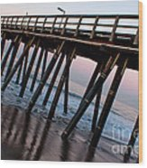Port Hueneme Pier Askew Wood Print