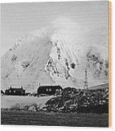 port lockroy british Antarctica trust base museum with anvers island in the background Wood Print