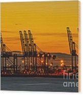 Port Of Felixstowe Wood Print by Svetlana Sewell