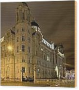 Port Of Liverpool Building Wood Print