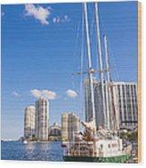 Port Of Miami Wood Print