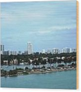 Port Of Miami Wood Print