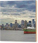 Port Of Vancouver Bc Panorama Wood Print