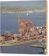 Port Of Vancouver Panorama Wood Print