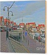 Port Of Volendam Wood Print