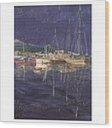 Stary  Port Orchard Night Wood Print