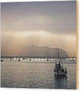 Port San Luis At Dawn 009 Wood Print