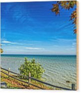 Port Sanilac Scenic Turnout Wood Print