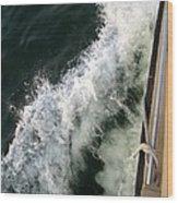 Port Side Crusing On Casco Bay Wood Print