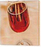 Port Wine Wood Print