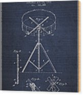 Portable Drum Patent Drawing From 1903 - Blue Wood Print