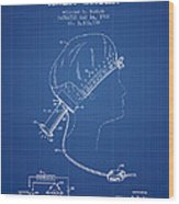 Portable Hair Dryer Patent From 1968 - Blueprint Wood Print