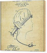 Portable Hair Dryer Patent From 1968 - Vintage Wood Print