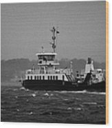 portaferry ferry crossing strangford lough on a stormy day Portaferry county down Wood Print