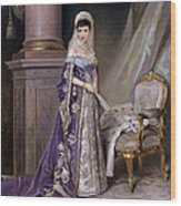 Portait Of Empress Maria  Fyodorovna Wood Print