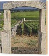 Portal  Of Vineyard.burgundy. France Wood Print by Bernard Jaubert