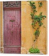 Porte Rouge Wood Print