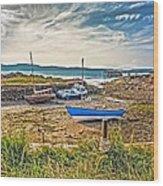 Portencross Harbour At Low Tide Wood Print