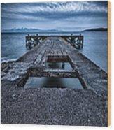 Portencross Pier  Wood Print