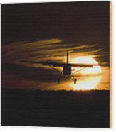 Porter Sunset II Wood Print