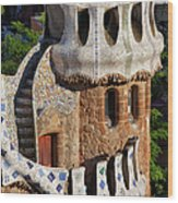 Porter's Lodge Pavilion In Park Guell Wood Print