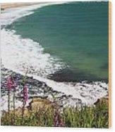Porthcurno Cornwall Wood Print