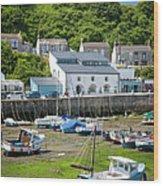 Porthleven Harbor - Low Tide Wood Print