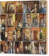 Porticos Of Padua Combined Wood Print