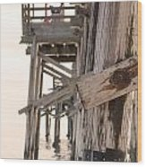 Portion Of The Pier Balboa Wood Print
